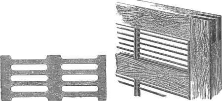 Hanemanova rešetka lijevo, američka matična rešeetka desno