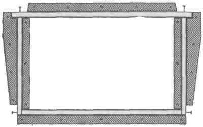 Kalup za sastavljanje jednostavnih okvira