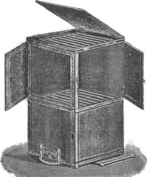 Košnica grčkog pčelara Della Rocca, s pokretnim satonošama