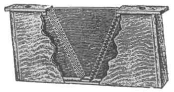 Dolittlova hranilica s uloženom trakom žičane mreže