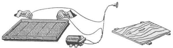 Električna sprava za utapanje žice u satnu osnovu