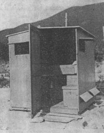 Mali montažni paviljon za rad, za seleće pčelare